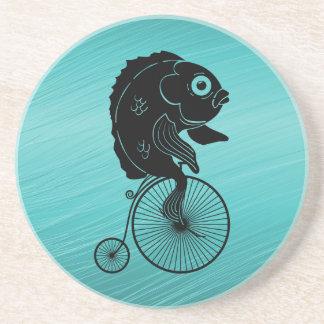 Fish Riding on a Bike Coaster