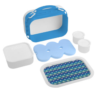 Fish scales and heart- Beach wear-Pool Time-Summer Lunch Boxes