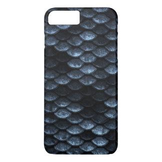 Fish Scales Pattern Deep Blue Shades iPhone 8 Plus/7 Plus Case