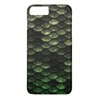 Fish Scales Pattern Deep Green Shades iPhone 8 Plus/7 Plus Case