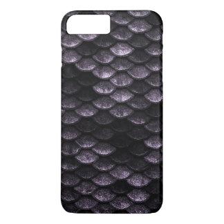 Fish Scales Pattern Deep Purple Shades iPhone 8 Plus/7 Plus Case