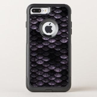Fish Scales Pattern Deep Purple Shades OtterBox Commuter iPhone 8 Plus/7 Plus Case