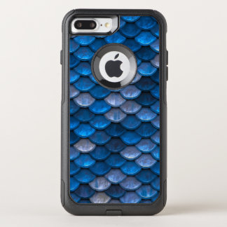 Fish Scales Pattern Shimmer Blues OtterBox Commuter iPhone 8 Plus/7 Plus Case