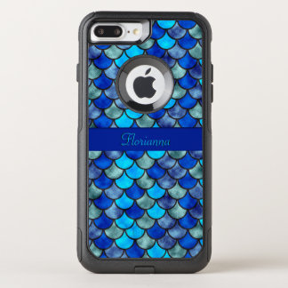 Fish Scales Pattern Shimmer Effect Personalize OtterBox Commuter iPhone 8 Plus/7 Plus Case