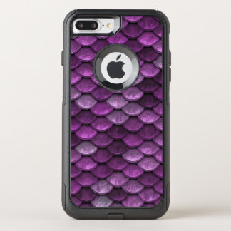 Fish Scales Pattern Shimmer Purples OtterBox Commuter iPhone 7 Plus Case