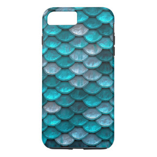 Fish Scales Pattern Shimmer Teals iPhone 7 Plus Case