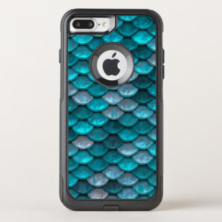 Fish Scales Pattern Shimmer Teals OtterBox Commuter iPhone 7 Plus Case