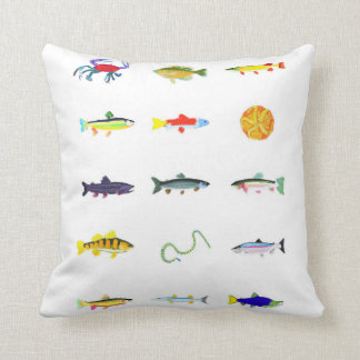 Fish, sea snake, crab pillow