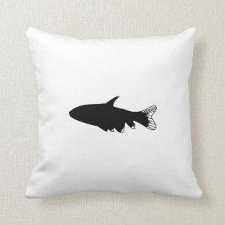 Fish Silhouette Throw Pillow