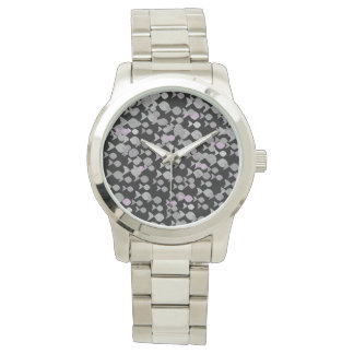 Fish Silver Stylish Pattern Elegant Modern Chic Watch