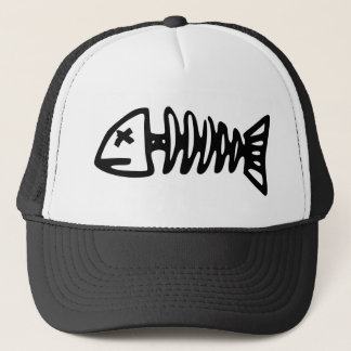 fish skeleton trucker hat