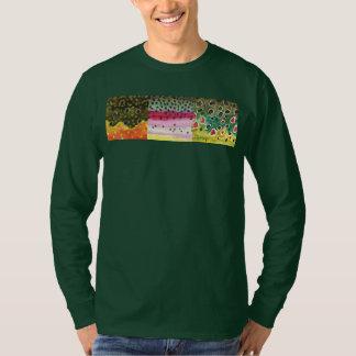 Fish Skins: Brook Rainbow Brown Trout Fisherman T-Shirt