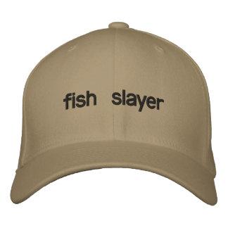 fish slayer embroidered baseball cap