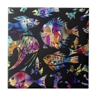 "fish Small (4.25"" x 4.25"") Ceramic Photo Tile"