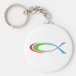 FISH Sport Basic Round Button Keychain