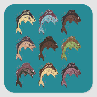 Fish Square Sticker