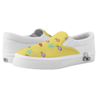 Fish Starfish World Funky Slip On Shoes