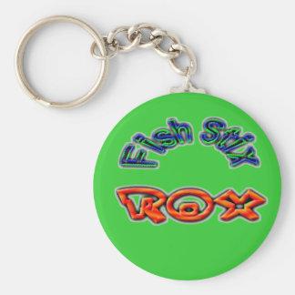 Fish Stix Rox! CCBC Fort Worth, TX Basic Round Button Keychain
