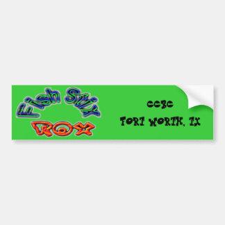 Fish Stix Rox! CCBC Fort Worth, TX Bumper Sticker