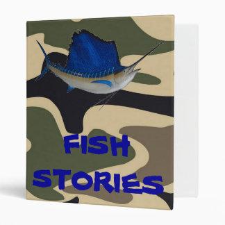 FISH STORIES 3 RING BINDERS