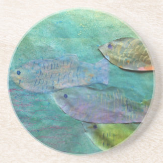 fish swimming about drink coasters