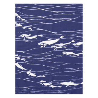 Fish Swimming Underwater Blue Tablecloth