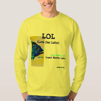 "Fish T-shirt ""LOL Logan Martin Lake"" Alabama"