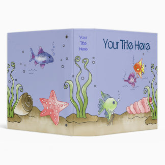 Fish Tales Vinyl Binders