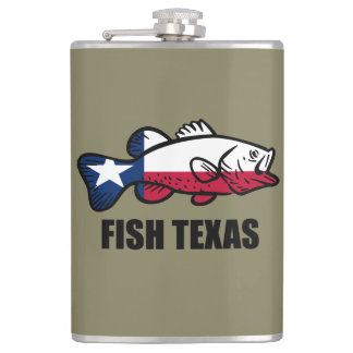 Fish Texas Hip Flask