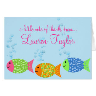 Fish Thank You Notecards Card
