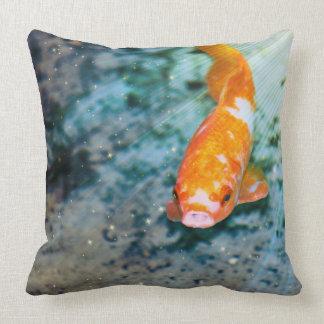 Japanese koi fish pillows japanese koi fish throw for Fish throw pillows
