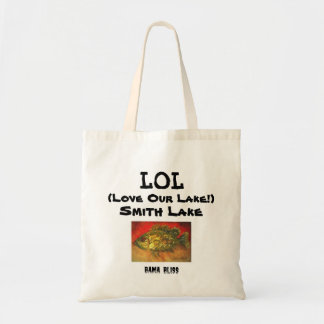 "Fish Tote Bag ""LOL Love Our Lake! Smith Lake"""