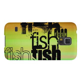 Fish; Vibrant Green, Orange, & Yellow Galaxy S5 Cases