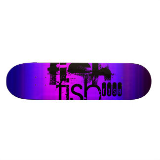 Fish; Vibrant Violet Blue and Magenta Skate Decks