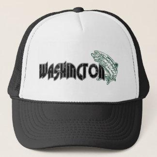 FISH WASHINGTON VINTAGE LOGO TRUCKER HAT