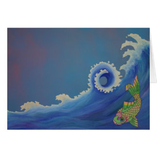 Fish Wave Card