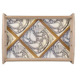 """Fish Wave"" Tray"