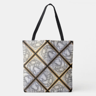 Fish Waves Tote Bag