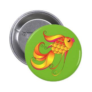 Fish. Wealth & prosperity symbol 2 Inch Round Button
