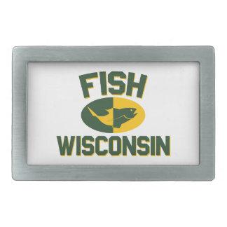 Fish Wisconsin Belt Buckle