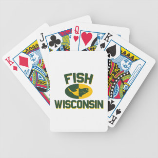 Fish Wisconsin Bicycle Playing Cards