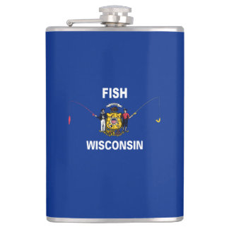 Fish Wisconsin Hip Flask