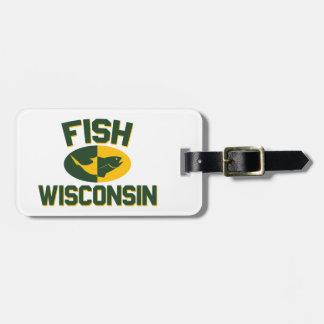 Fish Wisconsin Luggage Tag