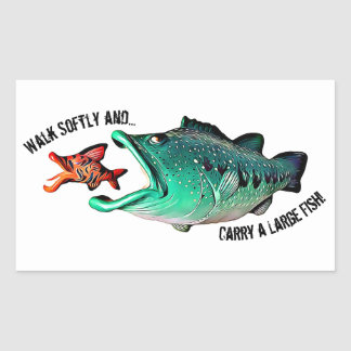 Fish with Attitude by Artist Mike Quinn Sticker