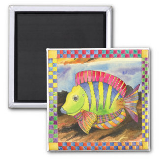Fish with Checkered Border #3 Magnet
