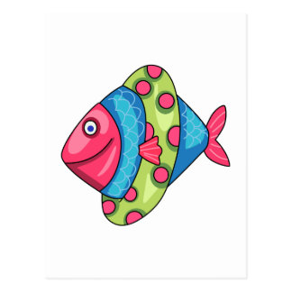 FISH WITH FLOAT POSTCARD
