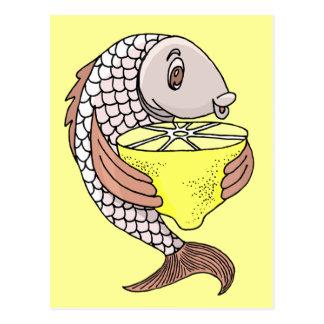 Fish With Lemon Postcard