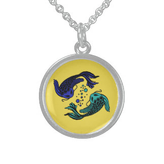 Fish Yang Sterling Silver Necklace