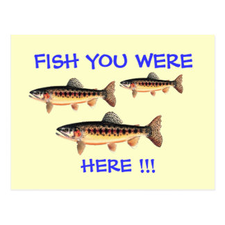 Fish You Were Here Postcard