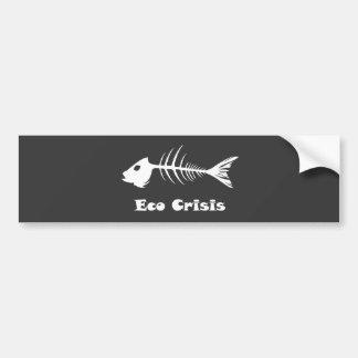 Fishbone Eco Crisis Dark Bumber Sticker